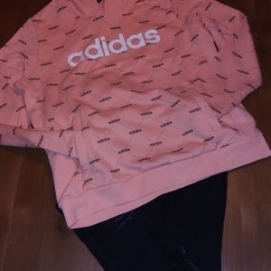 Womens Adidas Pullover Hooded Sweatshirt